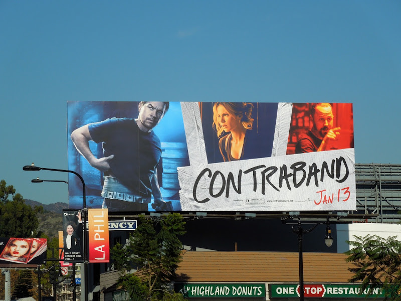 Contraband movie billboard