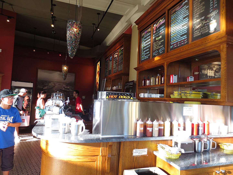 Soda Shoppe, Victoria BC, interior