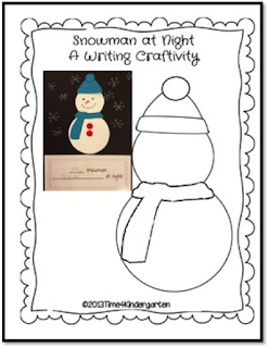 Snowmen at Night writing and craft project for the classroom