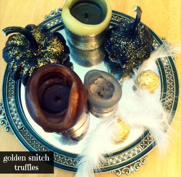 LPF Entertains: Harry Potter Party- golden snitch truffles
