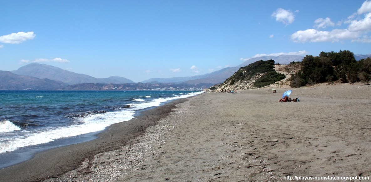 Komos nude beach (Crete, Greece)