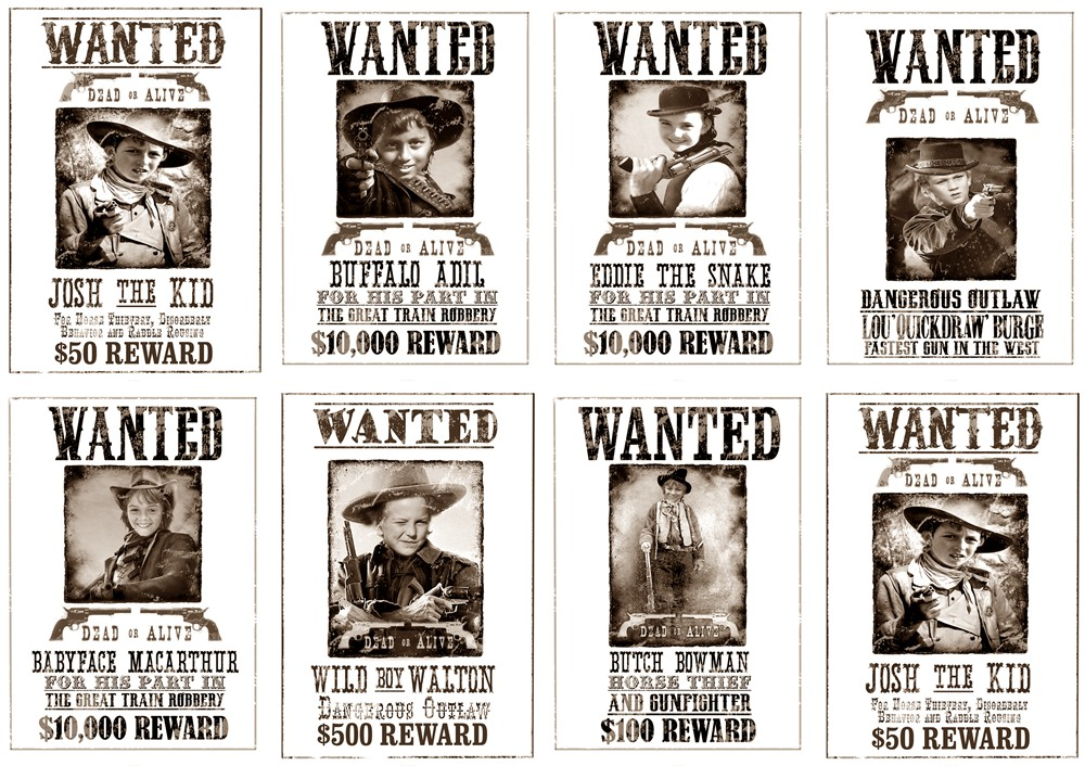 Western Wanted Poster Template Wild west party how tou0026#39;s (with