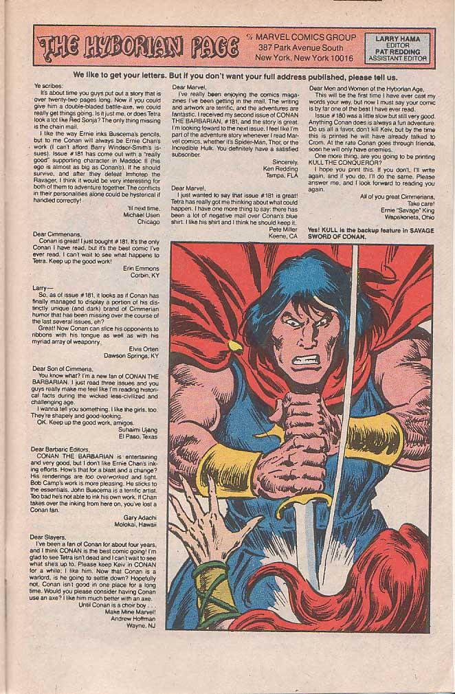Conan the Barbarian (1970) Issue #185 #197 - English 24