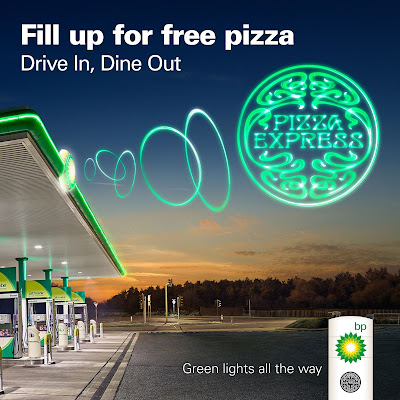Free Pizza Express meal when you collect vouchers at BP Petrol station