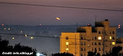 UFOs Photographed Over Polish Town of Elblag 9-29-13