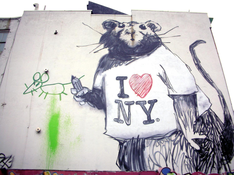 Coolest banksy graffiti wonderful for Banksy rat mural