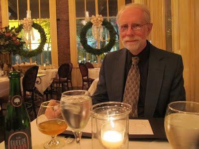 Dane savoring his Grueze Tilquin at August Restaurant