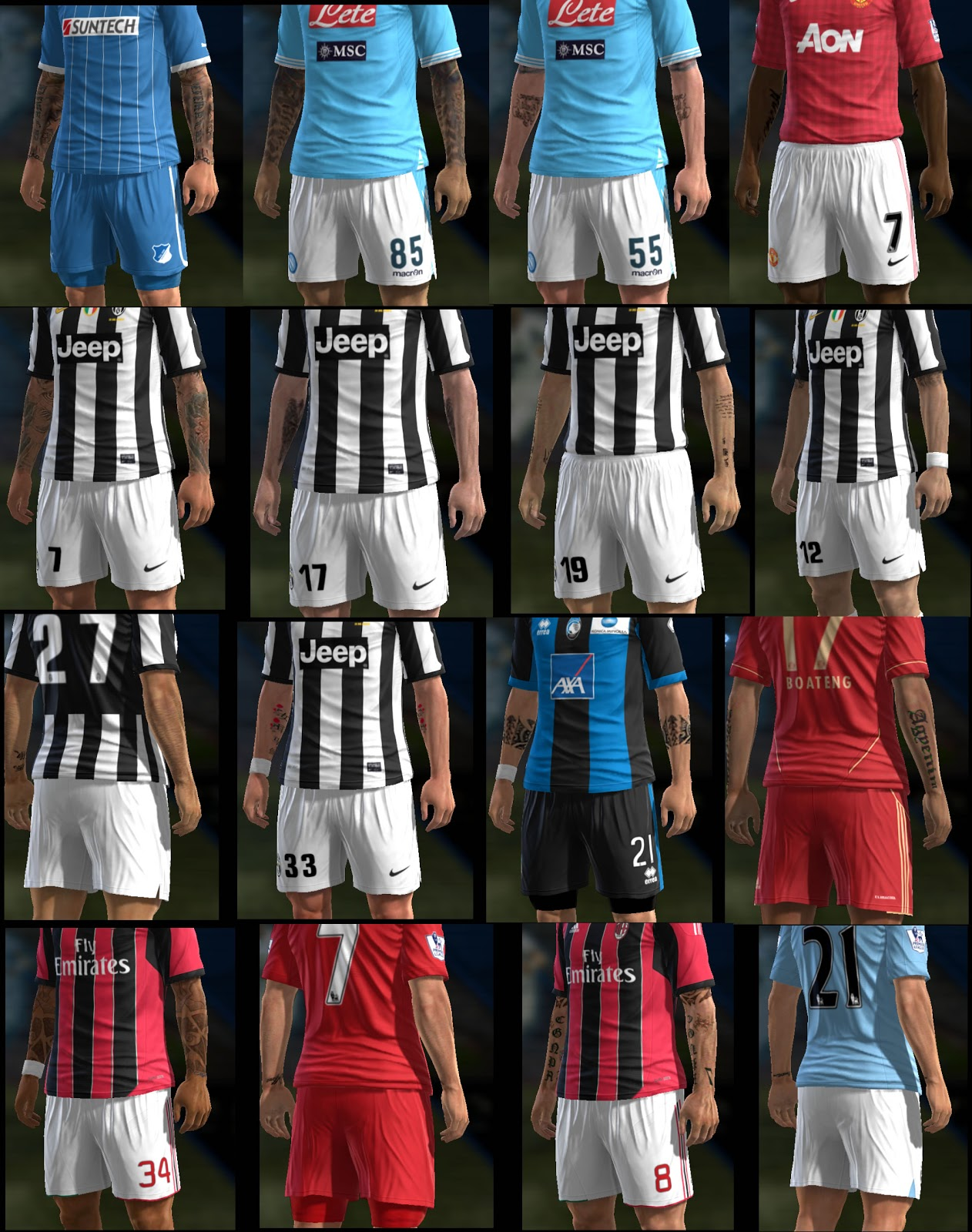 Pack de Tattoos v11 - PES 2013