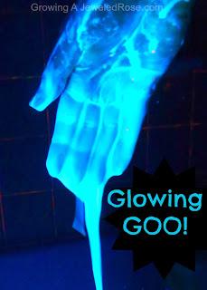 glow goo Halloween activity