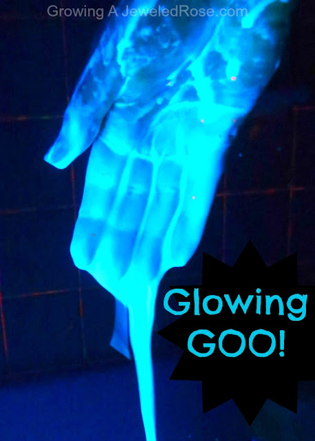glow goo Halloween activity