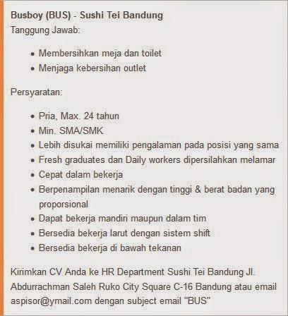 lowongan kerja terbaru september 2014