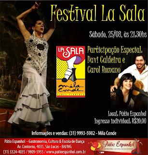 participação de Davi Caldeira ao toque de guitarra flamenca e Carol Romano ao cante