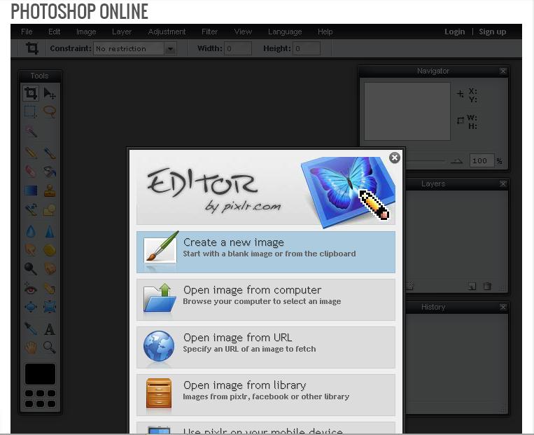 Cara Membuat Photoshop Online Di Halaman Statis Blog
