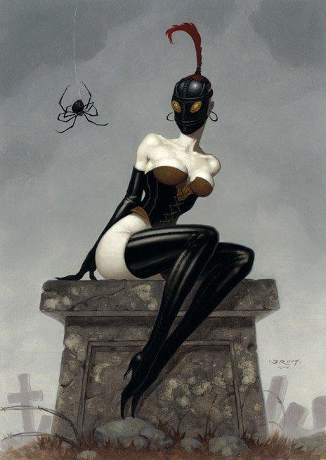 Gerald Brom ilustrações fantasia sombria macabra gótica