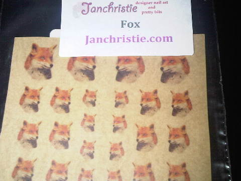 Jan Christie Fox Stickers
