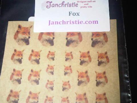 Jan Christie Fox Stickers