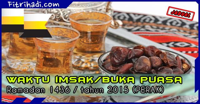 (Jadual) Waktu Buka Puasa Dan Imsak 2015 Negeri Perak