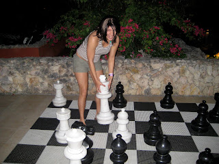playing oversized chess