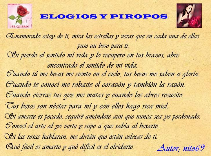 ELOGIOS Y PIROPOS