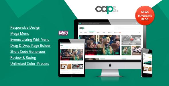 Download ThemeForest Caps V1.1.3 Responsive News/ Magazine Wordpress Theme for free.