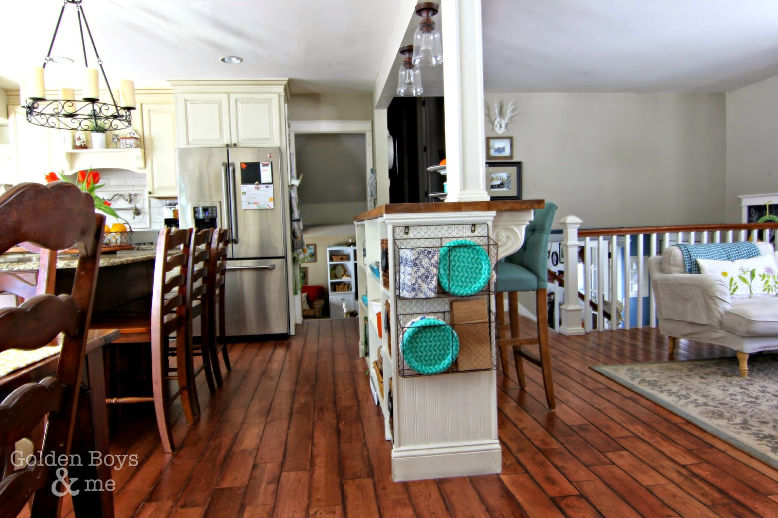 Open concept split level home-www.goldenboysandme.com