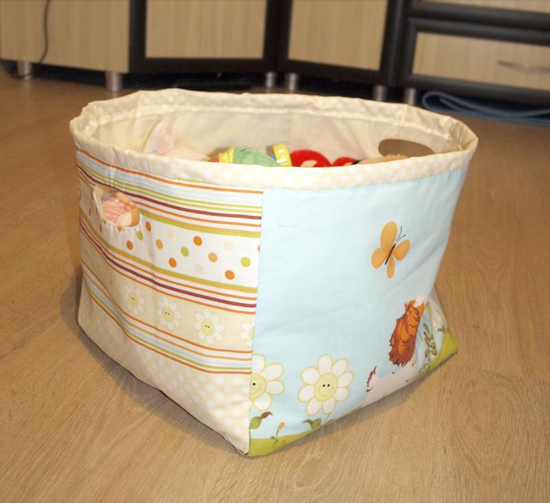 Текстильная коробка для хранения вещей своими руками 165