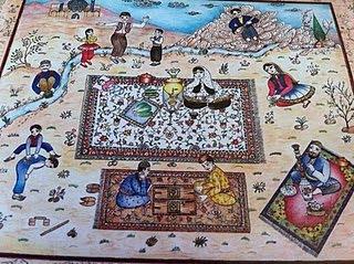 Iranian families enjoying a picnic
