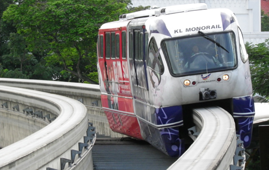 Peta Laluan Terkini Monorail Kuala Lumpur 2016