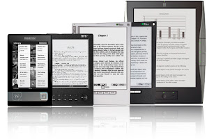 A screen shot of several different e-readers
