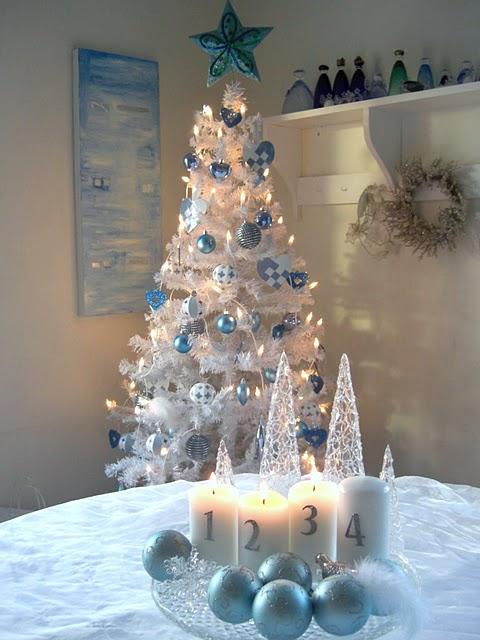 decoracao arvore de natal azul:Ateliê das Oliveiras: Decoração natalina azul