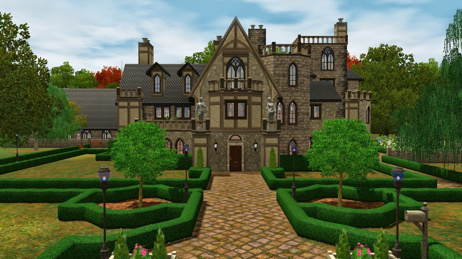 Simply ruthless wyndley manor an old english estate for Classic house sims 3