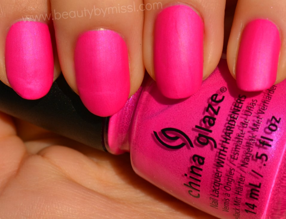 neon nail polish, fuchsia, manicure, nails, swatches