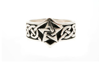 Celtic Star and Knot ring