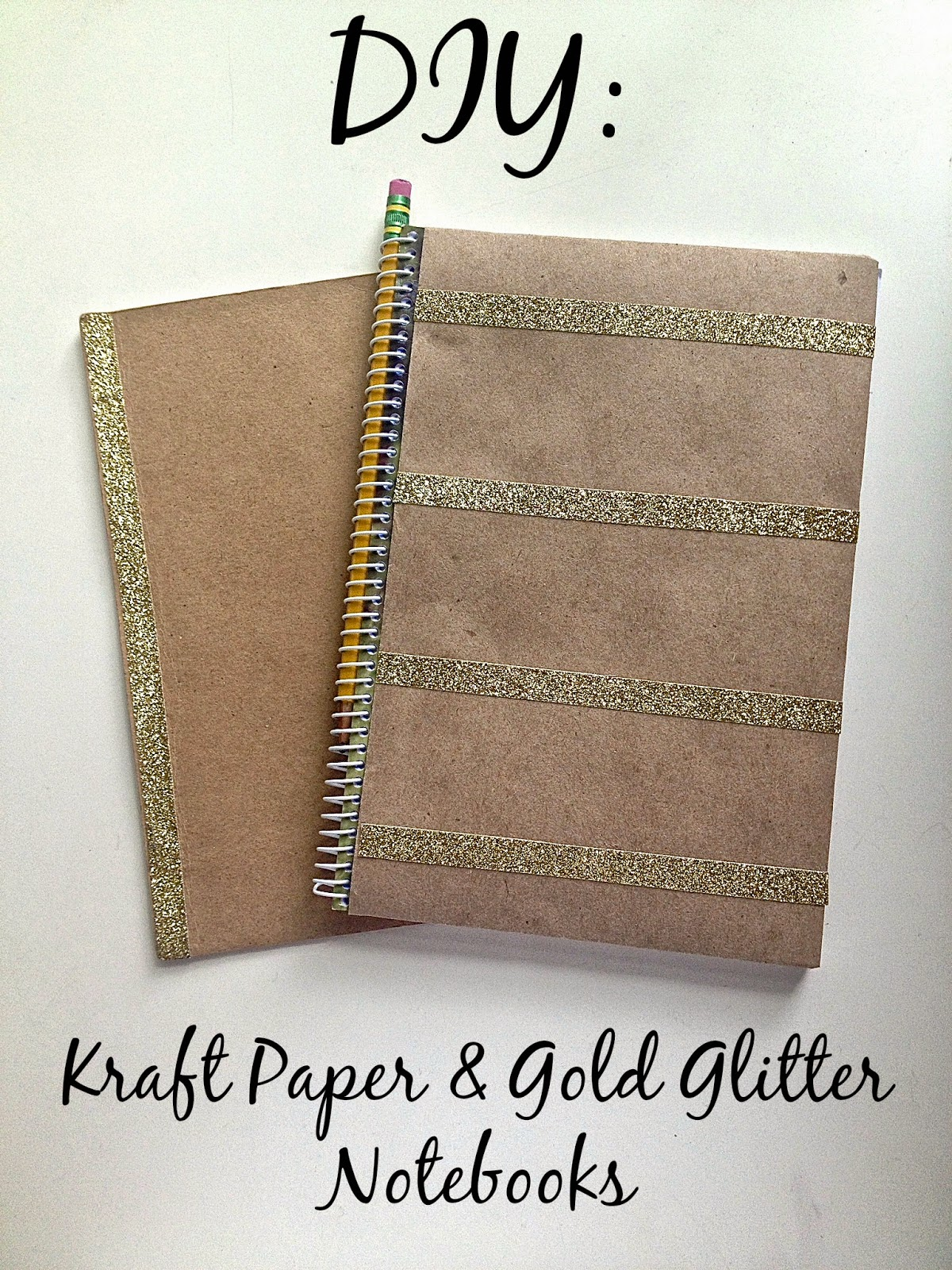 Diy glitter notebook cover - The Notebook