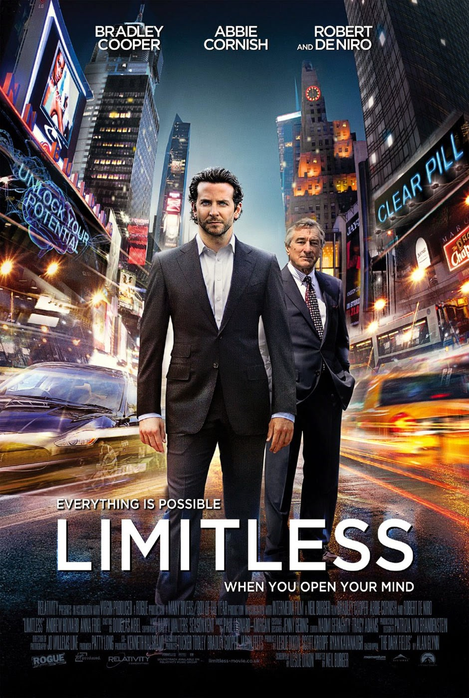 Limitless 2011 movie poster search online.