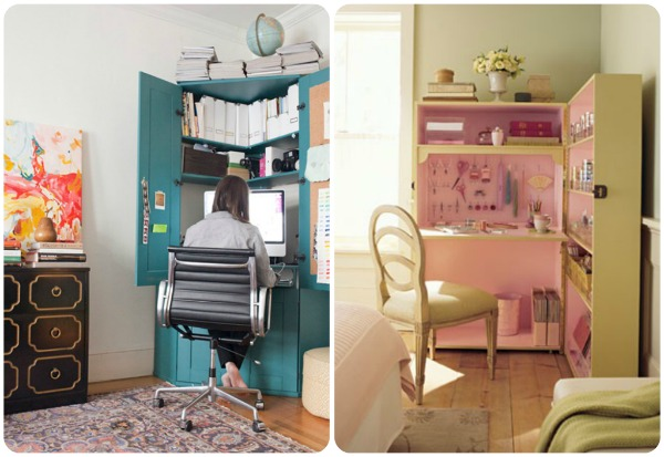 Converting closets into offices a pinterest contest at for Muebles para manualidades