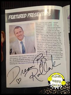 Ron Clark Autograph