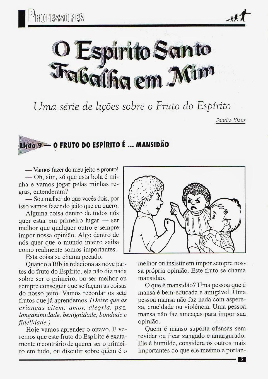 Muitas vezes Educando com a Tia Mara e Cia: Fruto do Espírito - MANSIDÃO - Lição 9 HD69