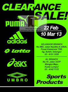 Sports Products Clearance Sale 2013