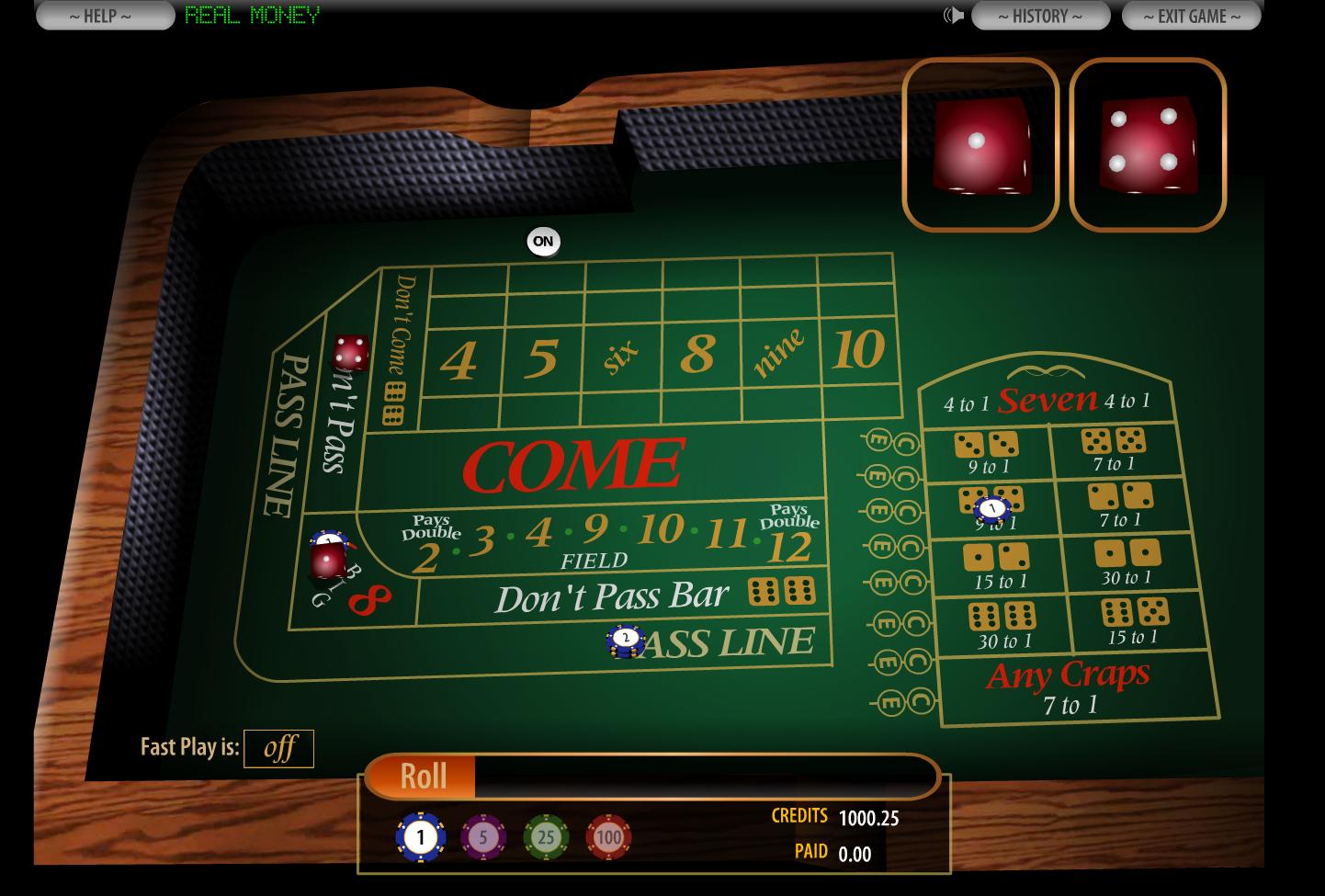 craps online casino