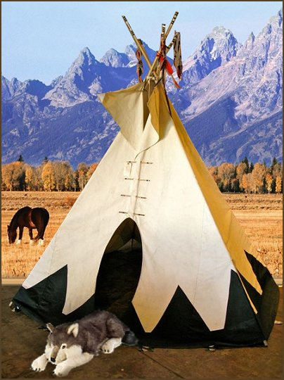 Decorating theme bedrooms maries manor teepee for American indian decoration