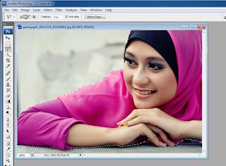 manipulasi photoshop cs4 untuk seleksi dengan polygonal lasso tool