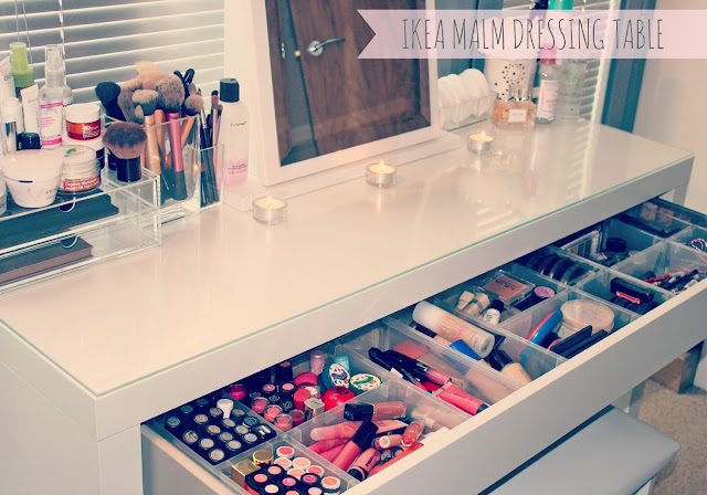 Dressing table organizer ikea for Beauty table organiser