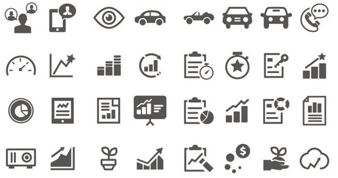 Free Mixed Generic & Custom Wireframe Icons