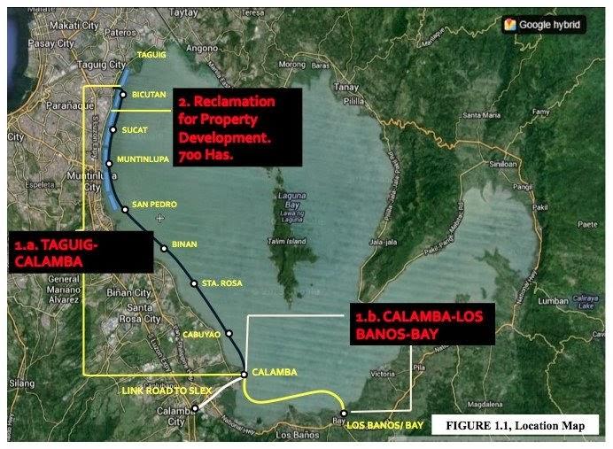 Laguna Lake Expressway map
