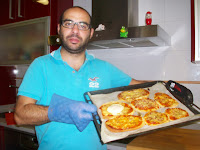 Pizza Gibello con Harina de Garbanzo.