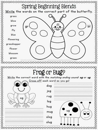 Go Back > Gallery For > Spring Writing Worksheets