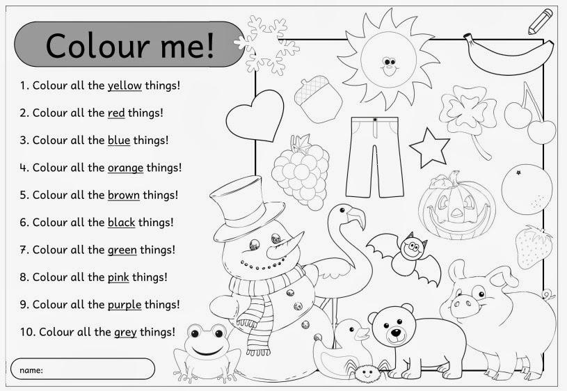 Arbeitsblätter Numbers Colours : Ideenreise arbeitsblatt zum Üben der englischen farbwörter