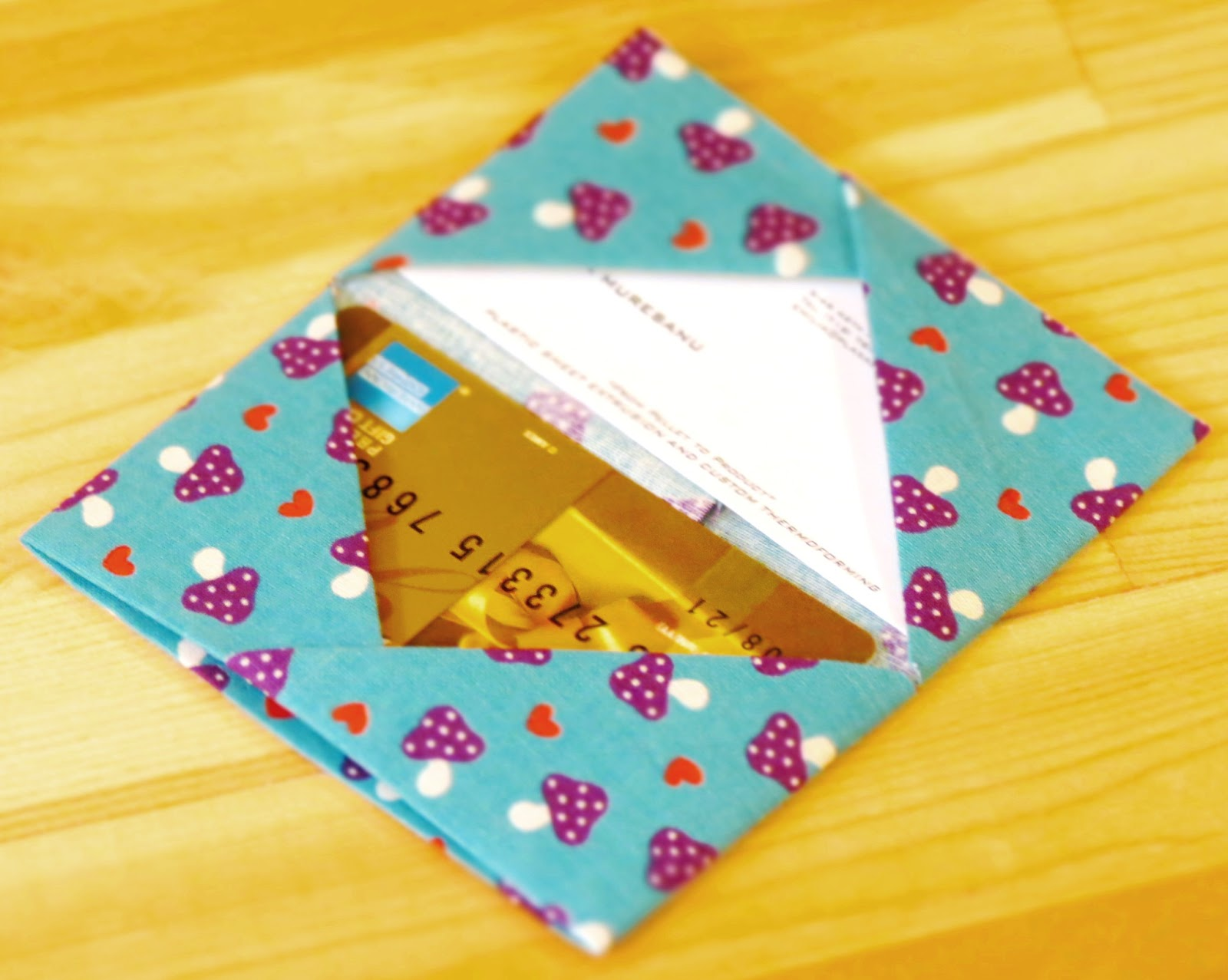 Bee A Ba Fabric Origami Card Holder
