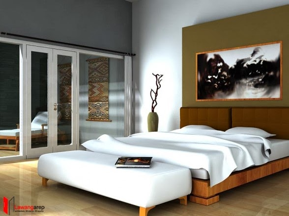 interior kamar tidur minimalis menawan